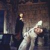"Actors (L-R) Frank Langella & Richard Kavanaugh in a scene fr. the Broadway revival of the play ""Dracula."" (New York)"