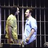 """Actors (L-R) Juan Chioran & John Dossett in a scene fr. the National Tour of Broadway musical """"Kiss of the Spider Woman."""" (Tampa)"""
