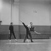 "Rehearsal of New York CIty Ballet production of ""Divertimento No. 15"" with Roy Tobias, George Balanchine and Allegra Kent, choreography by George Balanchine (New York)"