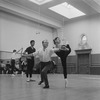 "Rehearsal of New York CIty Ballet production of ""Divertimento No. 15"" with Nicholas Magallanes, George Balanchine and Melissa Hayden, choreography by George Balanchine (New York)"