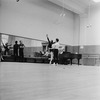 "Rehearsal of New York City Ballet production of ""Divertimento No. 15"" with George Balanchine, Herbert Bliss and Melissa Hayden, choreography by George Balanchine (New York)"