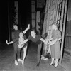 New York City Ballet - Labanotation director Ann Hutchinson (R) shows system to dancers Judith Green and Nicholas Magallanes with Michael Lland (2R) assisting (New York)