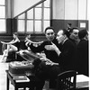 "New York City Ballet rehearsal of ""Electronics"" with George Balanchine and composer Remi Gassmann, choreography by George Balanchine (New York)"