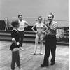"New York City Ballet rehearsal of ""Variations from Don Sebastian"", with Suki Schorer, Michael Lland, Victoria Simon and George Balanchine, choreography by George Balanchine (New York)"