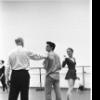 """New York City Ballet rehearsal of """"Dim Lustre"""" with Edward Villella, Patricia McBride and Antony Tudor, choreography by Antony Tudor (New York)"""
