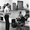 "New York City Ballet rehearsal of ""Clarinade"" with George Balanchine and Felia Dubrovska (teacher at the School of American Ballet), choreography by George Balanchine (New York)"