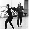 "New York City Ballet Company rehearsal of ""Apollo"" with Robert Rodham and George Balanchine, choreography by George Balanchine (New York)"