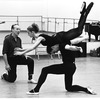 "New York City Ballet Company rehearsal of ""Apollo"" with Robert Rodham , George Balanchine and Sara Leland, choreography by George Balanchine (New York)"