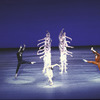 """New York City Ballet production of """"Concerto for Two Solo Pianos"""" with Jock Soto (in black) and Ib Andersen (In red), choreography by Peter Martins (New York)"""