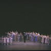 """New York City Ballet production of """"Ives, Songs""""; with dancers and singer Timothy Nolen take a bow, choreography by Jerome Robbins (New York)"""