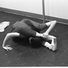 """New York City Ballet rehearsal for """"Jeux"""" with Allegra Kent stretching, choreography by John Taras (New York)"""