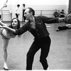 """New York City Ballet rehearsal of """"Metastaseis and Pithoprakta"""" with Suzanne Farrell and George Balanchine, choreography by George Balanchine (New York)"""