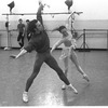 """New York City Ballet rehearsal of """"Dances at a Gathering"""" with John Prinz and Allegra Kent, choreography by Jerome Robbins (New York)"""