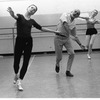 """New York City Ballet rehearsal of """"Dances at a Gathering"""" with Allegra Kent, Jerome Robbins and Carol Sumner, choreography by Jerome Robbins (New York)"""