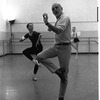 """New York City Ballet rehearsal of """"Dances at a Gathering"""" with Allegra Kent and Jerome Robbins, choreography by Jerome Robbins (New York)"""