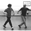 """New York City Ballet rehearsal of """"Dances at a Gathering"""" with Edward Villella and Jerome Robbins, choreography by Jerome Robbins (New York)"""
