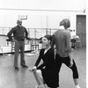 "New York City Ballet rehearsal for ""Goldberg Variations"" with Jerome Robbins, Karin von Aroldingen and Peter Martins, choreography by Jerome Robbins (New York)"