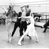 "New York City Ballet rehearsal for ""Daphnis and Chloe"" with John Taras and Heather Watts, Peter Martins and dansers, choreography by John Taras (New York)"