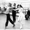 "New York City Ballet rehearsal for ""Daphnis and Chloe"" with John Taras and Peter Martins, Merrill Ashley, Colleen Neary, , choreography by John Taras (New York)"