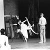 "New York City Ballet rehearsal for ""Coppelia"" with Patricia McBride and Mikhail Baryshnikov, choreography by George Balanchine (Saratoga)"