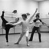 "New York City Ballet rehearsal for ""Jewels"" (Rubies) with Mikhail Baryshnikov, Edward Villella & Patricia McBride, choreography by George Balanchine (New York)"