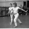 """New York City Ballet rehearsal for """"Concerto for Two Solo Pianos"""" with Heather Watts and Peter Martins, choreography by Peter Martins (New York)"""