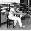 """New York City Ballet rehearsal for """"Concerto for Two Solo Pianos"""" with Peter Martins, choreography by Peter Martins (New York)"""
