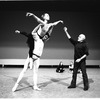 """New York City Ballet rehearsal of """"Ives, Songs"""" with Jerome Robbins and dancers Maria Calegari and Alexandre Proia, choreography by Jerome Robbins (New York)"""