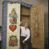 New York City Ballet photograph of George Balanchine and cabinet he designed and painted (New York)