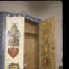 New York City Ballet photograph of Balanchine's cat Mourka in a  cabinet  designed and painted by George Balanchine (New York)