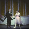 """New York City Ballet George Balanchine takes a bow with Merrill Ashley after premiere of """"Ballade"""", choreography by George Balanchine (New York)"""
