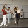 "New York City Ballet - rehearsal of ""A Schubertiad"" with Peter Martins, Heather Watts, Maria Calegari and Kyra Nichols choreography by Peter Martins (New York)"