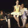 New York City Ballet dancers Maria Calegari and Steven Caras pose with Dell Wood while in Nashville to film for NET Dance in America (Nashville)