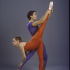 "New York City Ballet dancers Heather Watts and Jock Soto in a studio photo in costume for ""Calcium Light Night"", choreography by Peter Martins (New York)"
