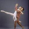 "New York City Ballet dancers Heather Watts and Jock Soto in a studio portrait in costume for ""Songs of the Auvergne"" choreography by Peter Martins (New York)"