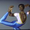 New York City Ballet dancer Mel Tomlinson in a studio portrait (New York)