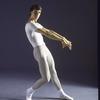 New York City Ballet dancer Christopher d'Amboise in a studio portrait (New York)