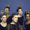 "Martha Graham with dancers who are to assume role of ""Clytemnestra"", Martha Graham center with Helen McGehee, Matt Turney, Linda Hodes and Mary Hinkson"