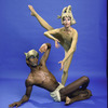 "Martha Graham Dance Company, studio portrait of Elisa Monte and George White, Jr. in ""Ecuatorial"", choreography by Martha Graham"
