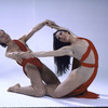 """Martha Graham Dance Company, studio portrait of Peggy Lyman and Peter Sparling in """"Acts of Light"""", choreography by Martha Graham"""