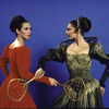 "Martha Graham Dance Company, studio portrait of Maxine Sherman and Peggy Lyman in ""Episodes"", choreography by Martha Graham"
