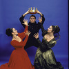 "Martha Graham Dance Company, studio portrait of Maxine Sherman, Tim Wengard and Peggy Lyman in ""Episodes"", choreography by Martha Graham"