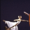 "George White Jr., Peggy Lyman and Yuriko Kimura (in red) in a Martha Graham production of ""Diversion of Angels"" (New York)"