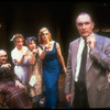 "Actors (R-L) Simon Jones, Jane Summerhays, Patricia Conolly, J. Smith-Cameron and Jeff Weiss in scene from Broadway production of Tom Stoppard play ""The Real Inspector Hound"""