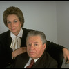 Portrait of theatrical producers Alexander Cohen & wife Hildy Parks (New York)