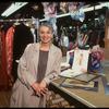 Publicity shot of costume designer Jane Greenwood in costume shop (New York)