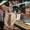Publicity shot of costume designer Jane Greenwood and costume maker Milo Morrow in the costume shop (New York)