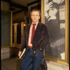 "Playwright Terrence McNally standing in front of Martin Beck Theater where his musical, ""The Rink"" is playing (New York)"