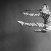 """Edward Villella as a Candy Cane (Hoops) in a New York City Ballet production of """"The Nutcracker."""""""