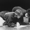 Choreographer Twyla Tharp (L) going over notes with a dancer.